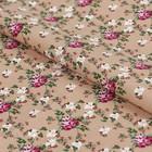 """Ткань для пэчворка """"Викторианские розы"""", 50х55см, 146±5г/кв.м, ВР-07, цвет бежевый"""