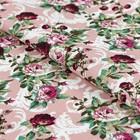 """Ткань для пэчворка """"Викторианские розы"""", 50х55см, 146±5г/кв.м, ВР-17, цвет розовый"""