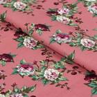 """Ткань для пэчворка """"Викторианские розы"""", 50х55см, 146±5г/кв.м, ВР-18, цвет розовый"""