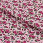 """Ткань для пэчворка """"Викторианские розы"""", 50х55см, 146±5г/кв.м, ВР-19, цвет розовый"""