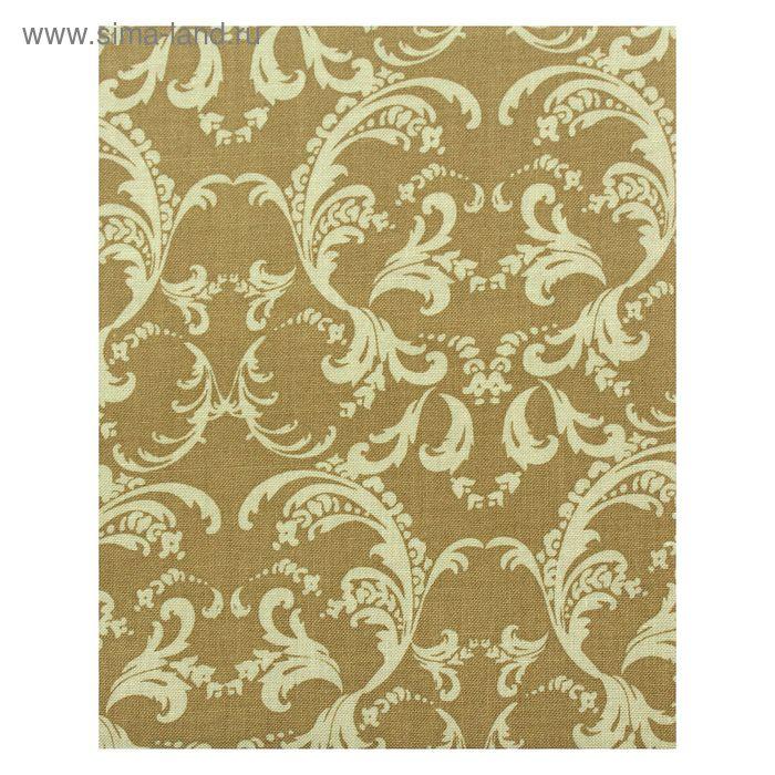 """Ткань для пэчворка """"Викторианские розы"""", 50х55см, 146±5г/кв.м, ВР-35, цвет зелёный"""