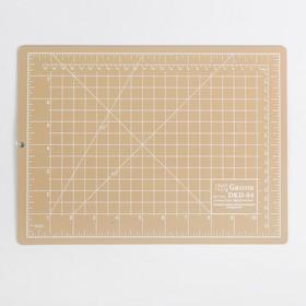 Мат для резки, двусторонний, 30 × 22 см, А4, цвет бежевый, DKD-004