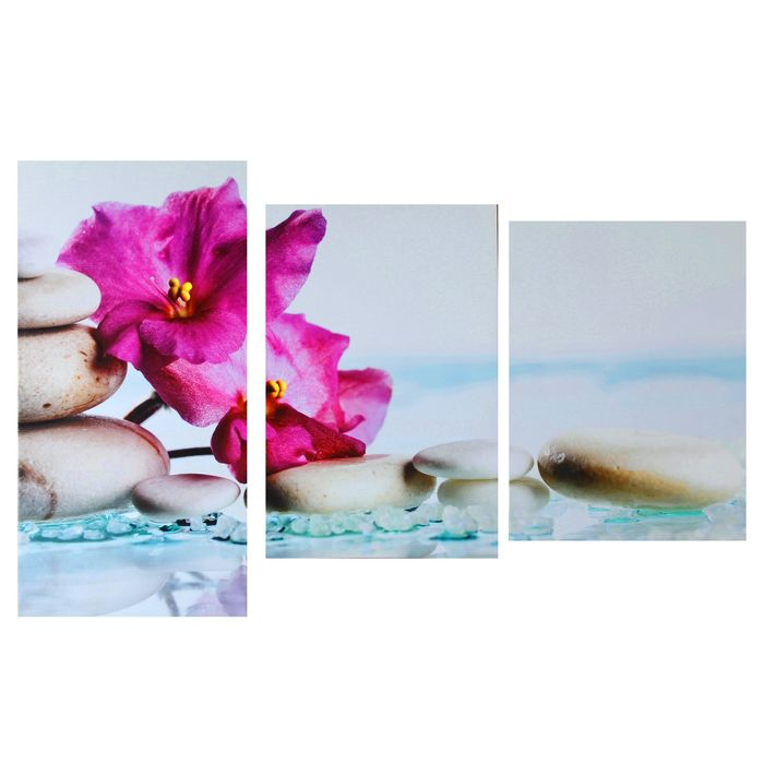 """Модульная картина на подрамнике """"Экзотические цветы"""", 99×65 см"""