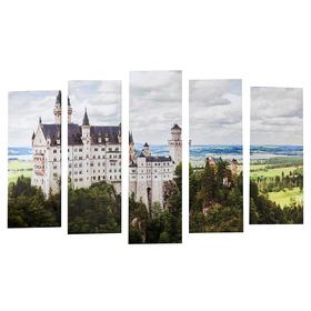 "Картина модульная на подрамнике ""Замок"" (2-25х63; 2-25х70; 1-25х80) 125х80см"