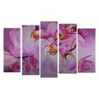 """Модульная картина на подрамнике """"Цветы"""", 125×80 см"""