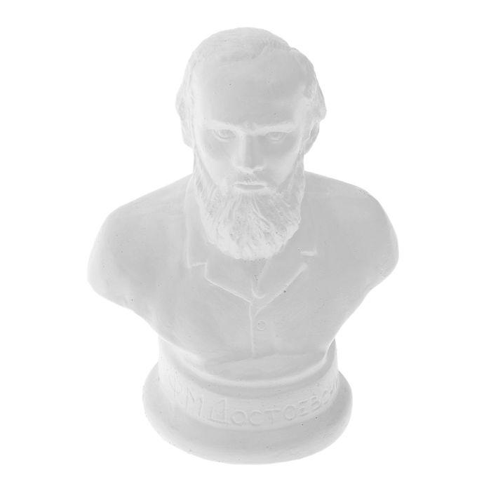 """Бюст """"Достоевский Ф. М."""" (белый), 7× 7× 12.5 см"""