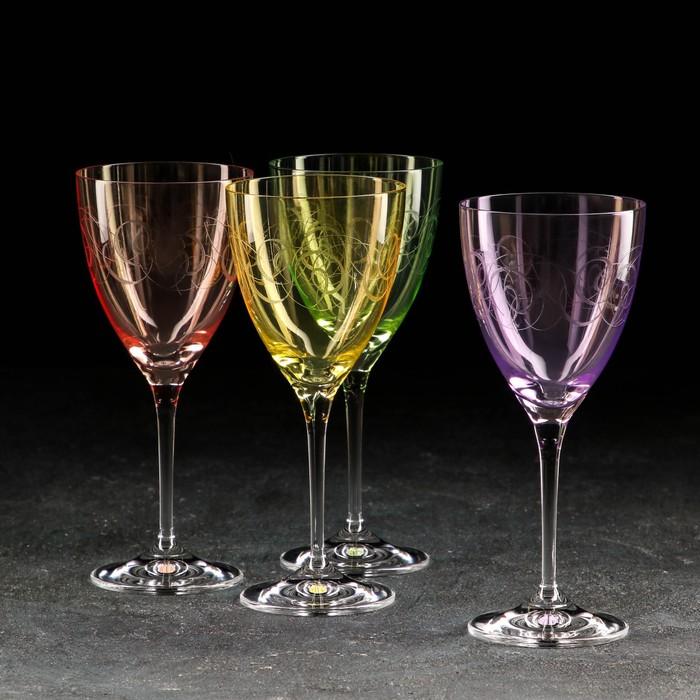 """Набор бокалов для вина 250 мл """"Кейт. Fantasy"""", 4 шт"""