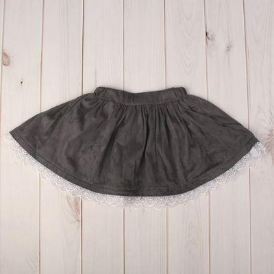 Юбка для девочки, рост 86-92 см, цвет серый 1636_М