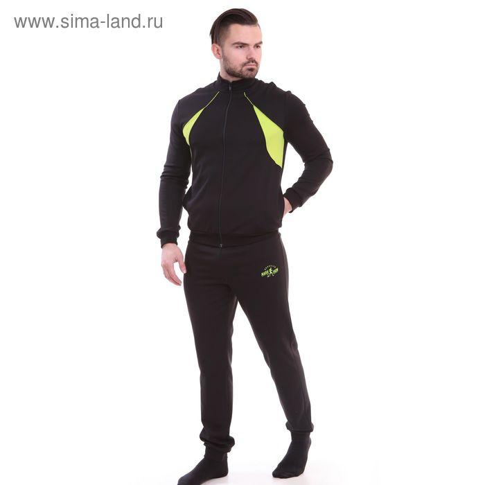 Костюм мужской (куртка+брюки) Р629014 черный, рост 170 см, р-р 52 (104)