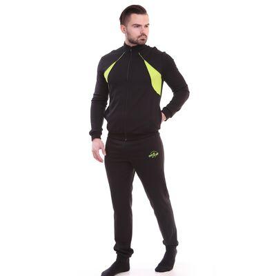 Костюм мужской (куртка+брюки) Р629014 черный, рост 170 см, р-р 54 (108)