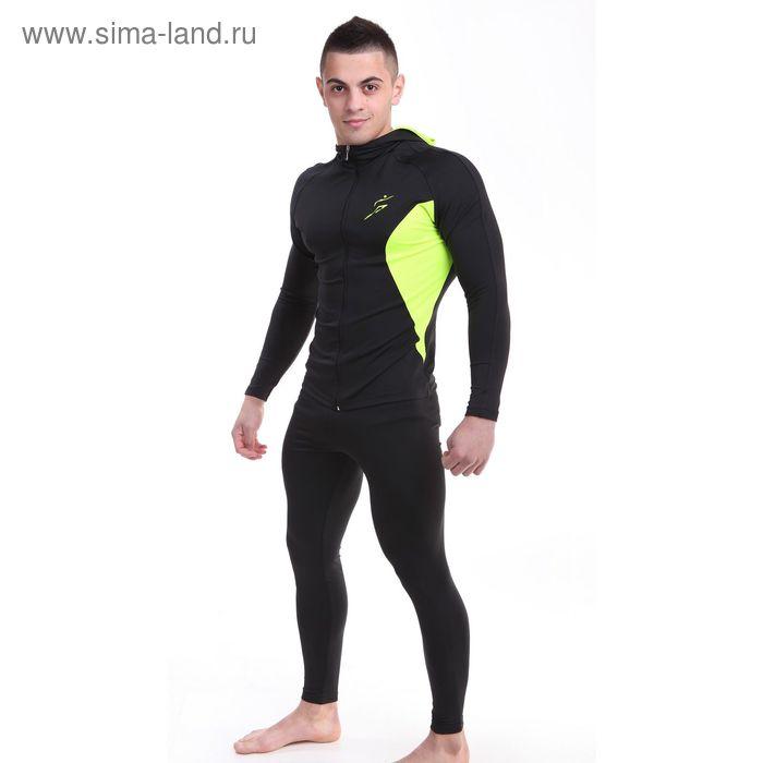 Толстовка мужская спортивная, цвет чёрный, рост 170-176 см, размер 56 (112)