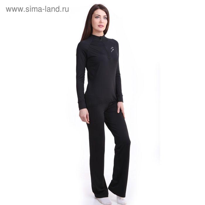 Брюки женские спортивные Р578391 цвет черный, рост 158-164 см, р-р 42 (90)