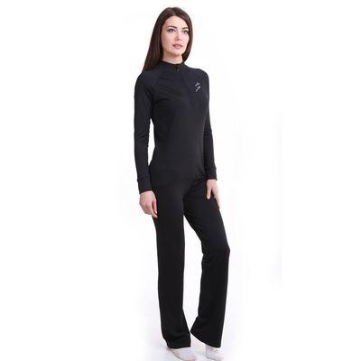 Брюки женские спортивные Р578391 цвет черный, рост 158-164 см, р-р 44 (94)