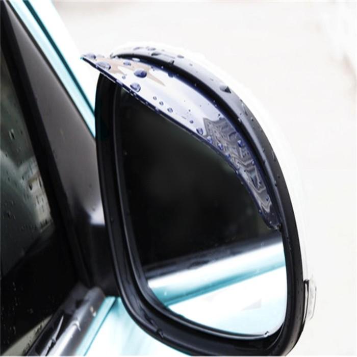 Козырьки на зеркала заднего вида универсальные TORSO, затемненные, 2 шт.