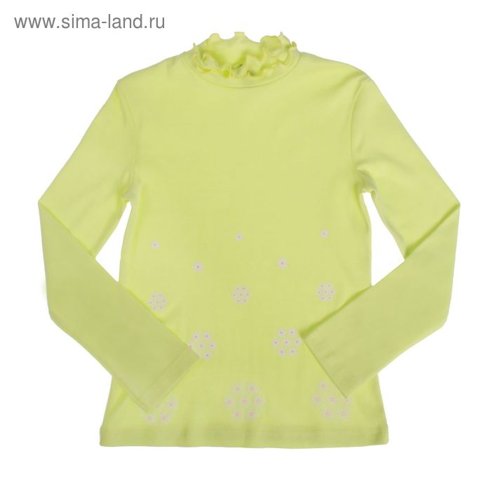 """Водолазка для девочки """"Шары цветов"""", рост 110-116 см (30), цвет лимонный Р858622"""