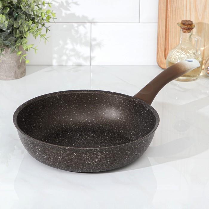Сковорода , 24×6 см, цвет кофейный мрамор - фото 797751172