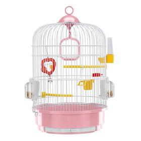 Клетка Ferplast Regina d=32.5, h=45.5 белая для птиц, микс