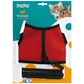 Комплект Ferplast поводок+шлейка Jogging Xlarge для кроликов, ош 25,5-30,5 см, ог 35,5-40,5 см, ширина 1см