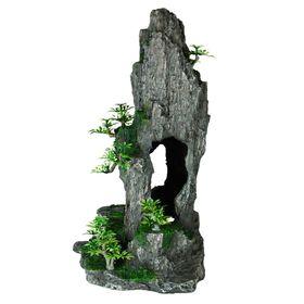 """Грот Trixie """"Скала с пещерой с растениями"""", 23,5 см, пластик"""