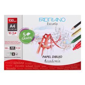 Бумага для графики и пастели, А4, 210 х 267 мм, Fabriano Dibujo Desenho, 10 листов, 130 г/м², конверт