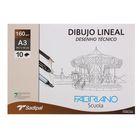 Альбом для сухих техник А3 Fabriano Dibujo Lineal 10 листов 160 г/м2 конверт