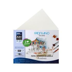 Бумага для Акварели в папке 240 х 320, А4+, Fabriano Tempera-Aguarela, 6 листов, 350 г/м²