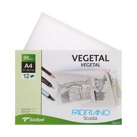 Калька для художественных работ, А4, 210 х 297 мм, Fabriano, 12 листов, 90 г/м2 конверт