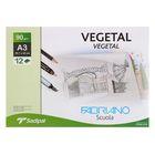 Калька для художественных работ, А3, 297 х 420 мм, Fabriano Vegetal, 12 листов, 90 г/м2, конверт