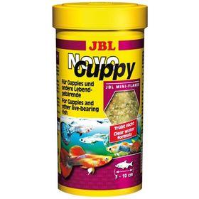 Основной корм JBL NovoGuppy для гуппи и других живородящих, 250 мл.