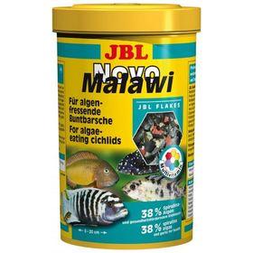 Корм JBL NovoMalawi для растительноядных цихлид, хлопья, 250 мл.