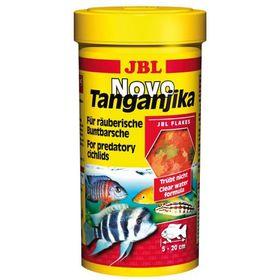 Корм JBL NovoTanganjika для хищных цихлид, хлопья из рыбы и планктонных животных