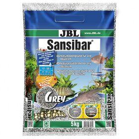 Декоративный мелкий грунт для аквариума, серый,JBL Sansibar GREY, 5 кг.