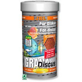 "Основной корм ""премиум"" JBL Grana-Discus для дискусов, гранулы, 250 мл., 110 г."