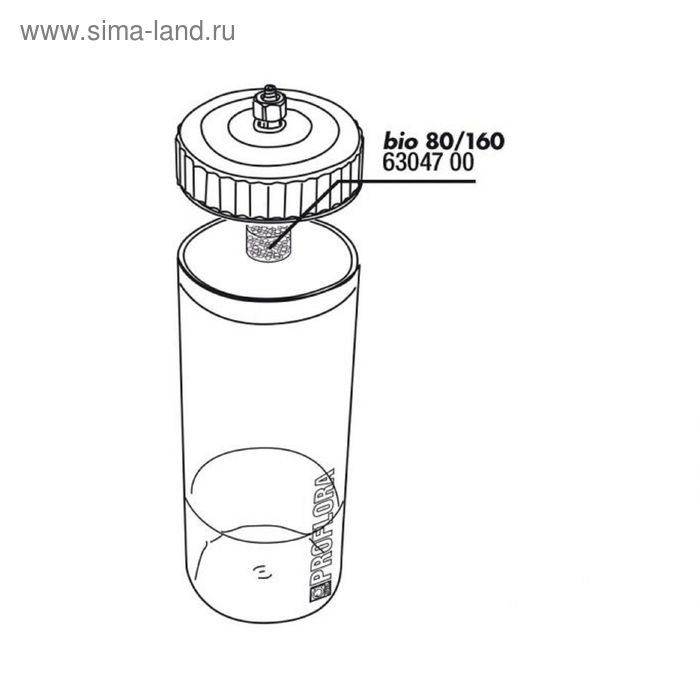 Фильтрующая прокладка для реакционного сосуда для JBL ProFlora bio80/160,JBL Filtereinsatz Reaktions