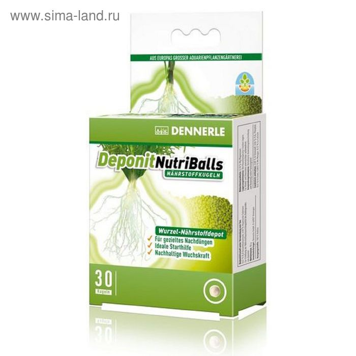 Корневое удобрение в виде шариков для любых аквариумных растений, 10 шт. на 3-10 растений,Dennerle D