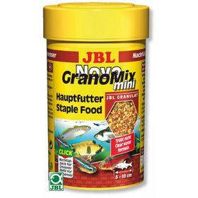Основной корм JBL NovoGranoMix mini Refill для маленьких рыб, смесь мини-гранулы, 100 мл.