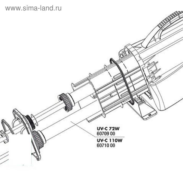 Кварцевая колба для УФ-стерилизатора AquaCristal UV-C 110W,JBL UV-C 110 fused silica insert   182935