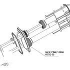Основание для крепления кварцевых колб к УФ-стерилизаторам AquaCristal UV-C 72/110W,JBL UV-C 72/110W
