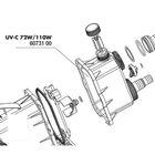 Крышка внешнего корпуса УФ-стерилизаторов AquaCristal UV-C 72/110W, JBL UV-C 72/110W casing bypass
