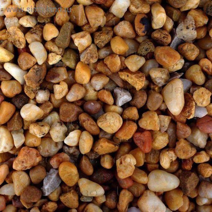"""Натуральный грунт для аквариумов """"Желтый гравий"""", UDeco River Yellow, 6-9 мм, 2 л"""