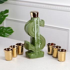 """Набор для вина """"Доллар"""", 7 предметов в наборе, 0,8 л/0,1 л, микс"""