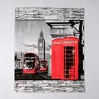 """Пакет """"Лондон"""", полиэтиленовый с вырубной ручкой, 38 х 45 см, 60 мкм - фото 308517490"""