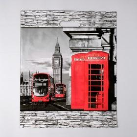 """Пакет """"Лондон"""", полиэтиленовый с вырубной ручкой, 38 х 45 см, 60 мкм"""