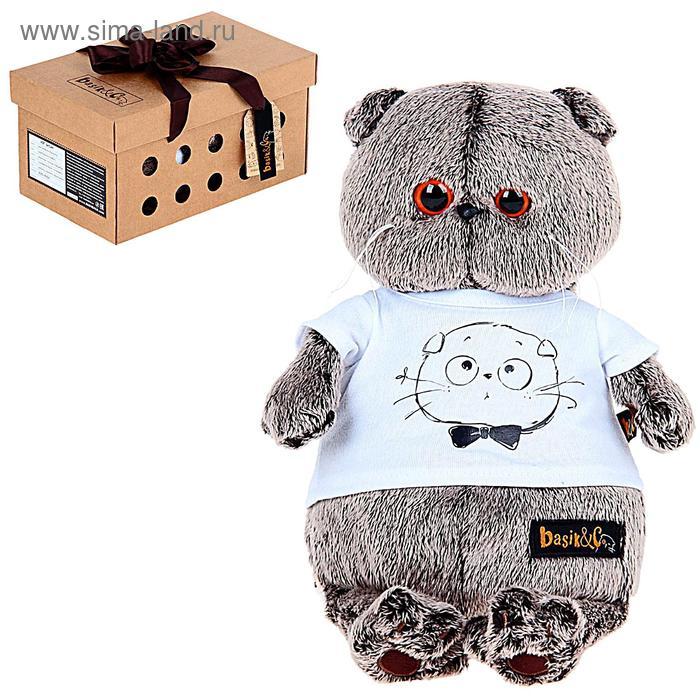 Мягкая игрушка «Басик в футболке» с принтом «Мордочка Басика»