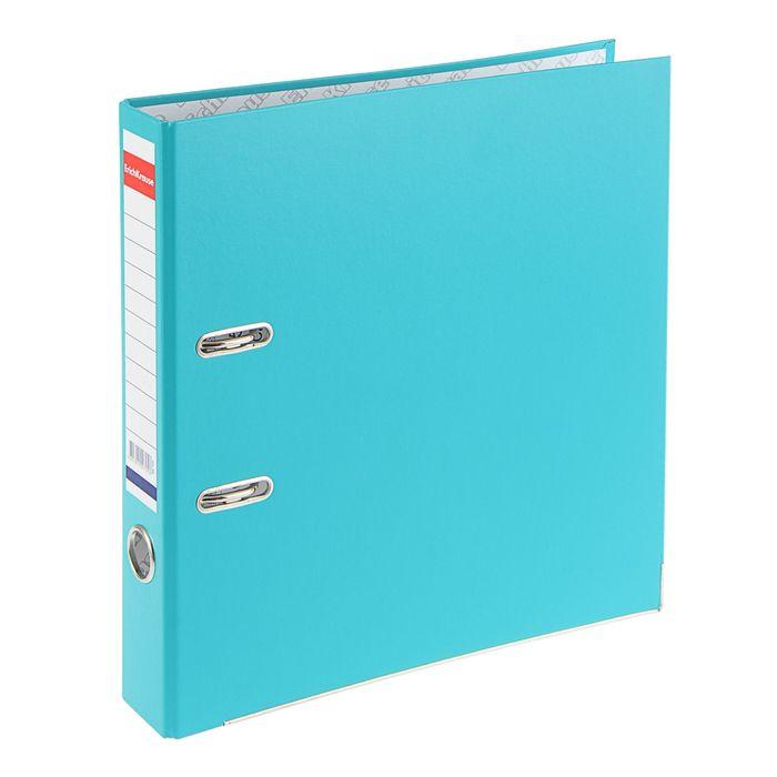 Папка-регистратор А4, 50 мм, «Стандарт», разборный, бирюзовый, этикетка на корешке, металлический кант, картон 2 мм, вместимость 350 листов - фото 408708799