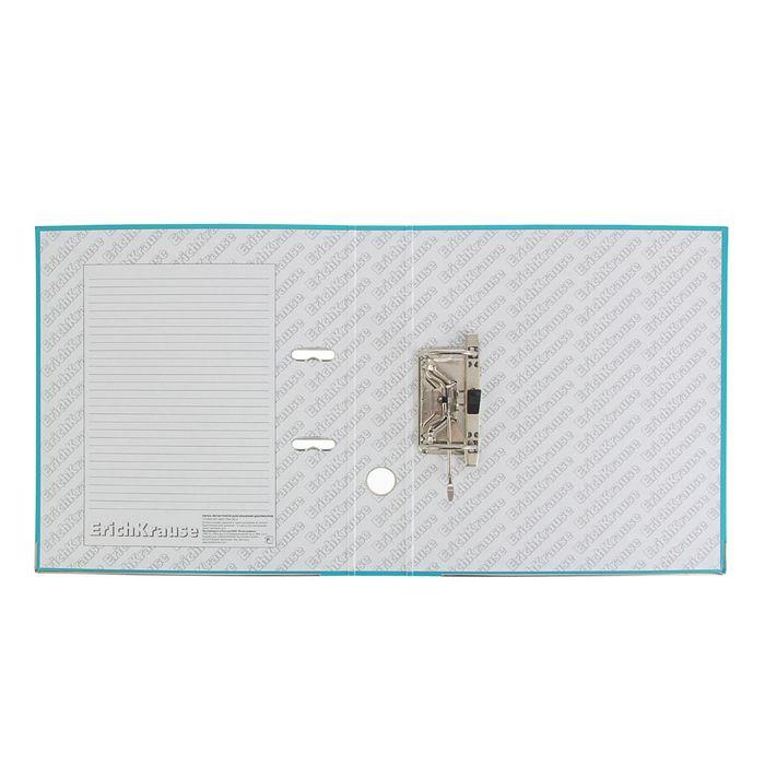 Папка-регистратор А4, 50 мм, «Стандарт», разборный, бирюзовый, этикетка на корешке, металлический кант, картон 2 мм, вместимость 350 листов - фото 408708800