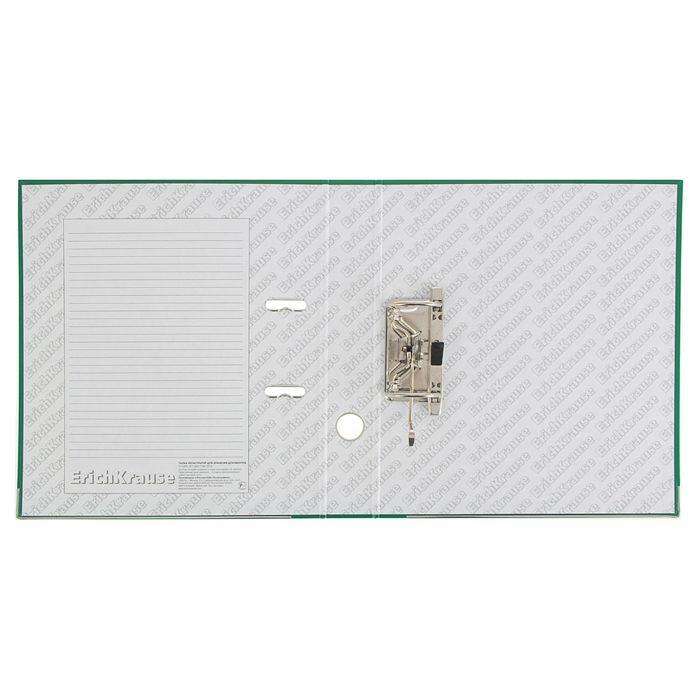 Папка-регистратор А4, 50 мм, «Стандарт», разборный, зелёный, этикетка на корешке, металлический кант, картон 2 мм, вместимость 350 листов - фото 443618799