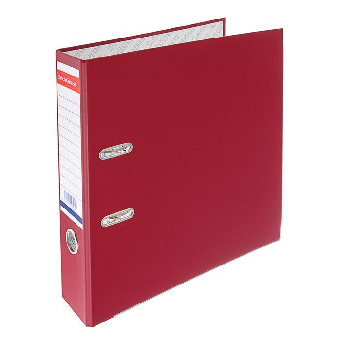 Папка-регистратор А4, 70 мм, «Стандарт», разборный, бордовый, этикетка на корешке, металлический кант, картон 2 мм, вместимость 450 листов
