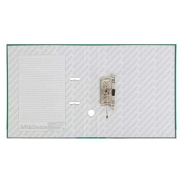 Папка-регистратор А4, 70 мм, «Стандарт», разборный, зелёный, этикетка на корешке, металлический кант, картон 2 мм, вместимость 450 листов - фото 504886522