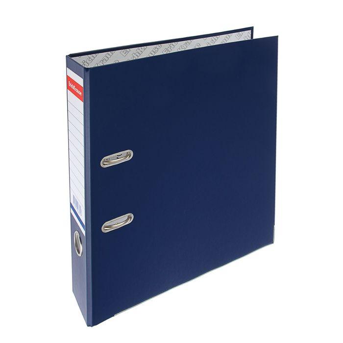 Папка-регистратор А4, 70 мм, «Стандарт», разборный, синий, этикетка на корешке, металлический кант, картон 2 мм, вместимость 450 листов